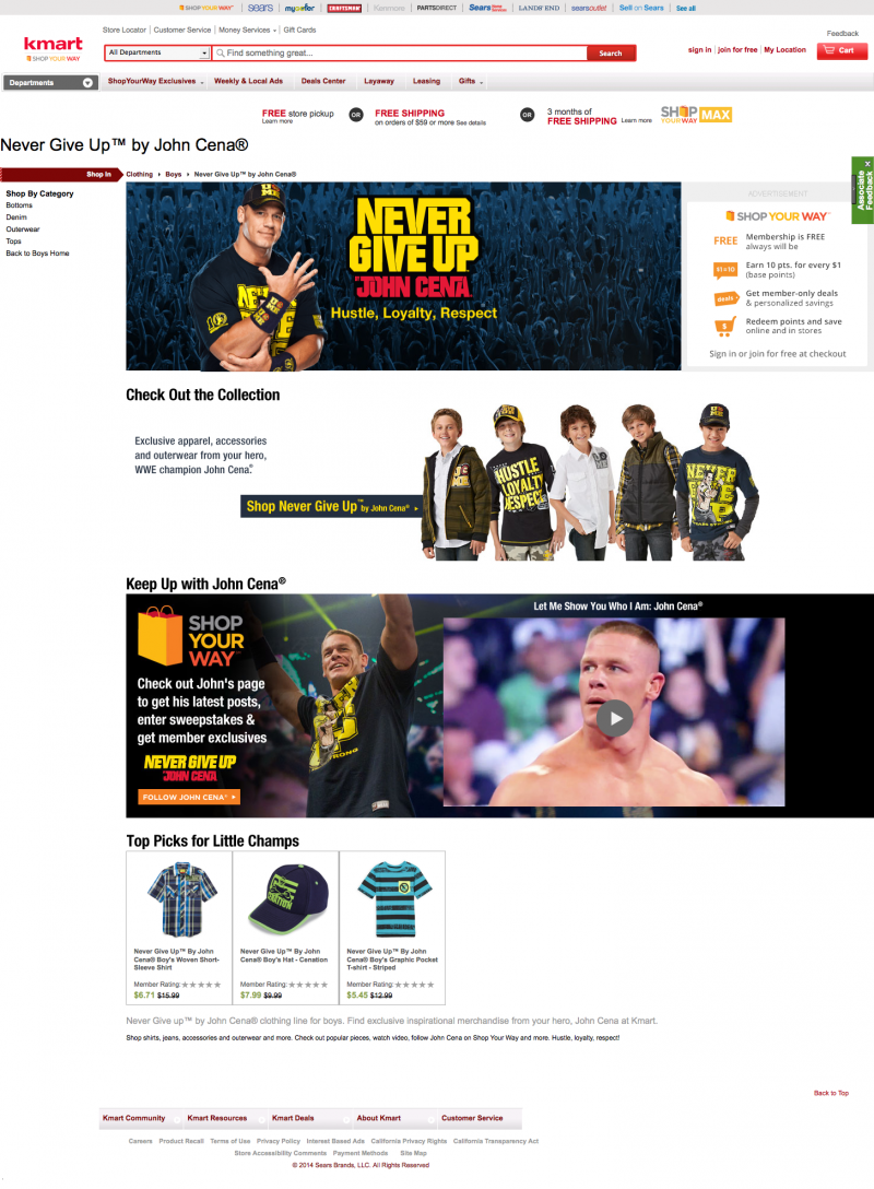 Never Give Up™ by John Cena®: Exclusive Boys Clothing - Kmart.com 2014-07-29 11-29-07