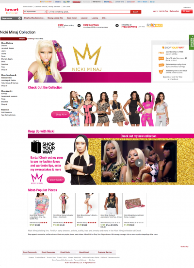 Nicki Minaj Collection: Bold Clothing, Accessories, and more at Affordable Prices - Kmart.com 2014-07-29 11-31-43